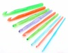Charmkey fresh colorful needlework plastic knitting set 9pcs corchet hook set price cheap