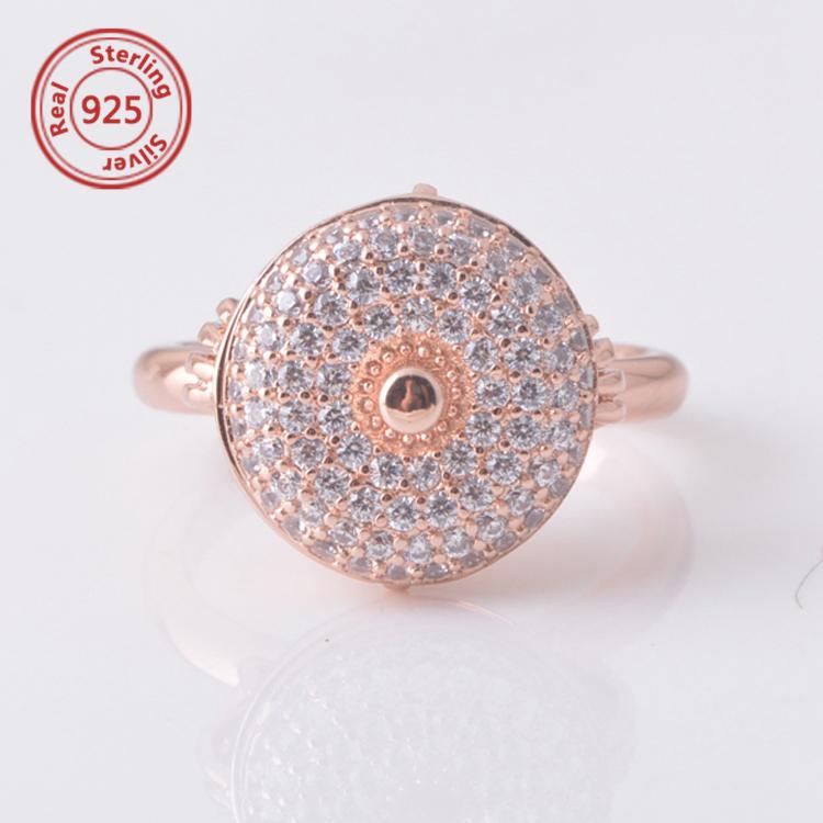 Rose Gold Vermeil Evil Eye Ring sterling silver Turkish Evil Eye Good Luck  Ring 9048ef2d90fb