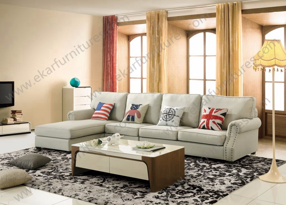Living room french antique style 7 seater sectional couch for 7 seater living room