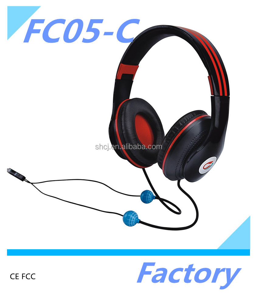Ibrain FC05-C best selling products in nigeria anti radiation headphones computer with red black material for cell phones