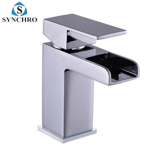 SKL-1452 Hot sell single handle brass wash basin lavatory waterfall tap