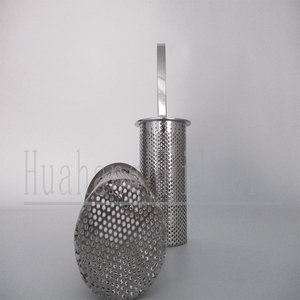 Customized used portable Perforated stainless steel wire mesh filter basket
