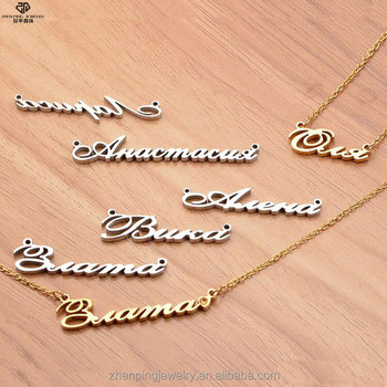 682bbae6453b4 New Arrivals 2018 Rose Gold Plated Stainless Steel Name Necklace  Personalised - Buy Name Necklace Personalised,Name Necklace,Necklace  Product on ...