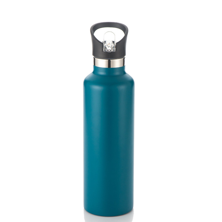 insulated double wall colourful stainless steel water bottle for hot