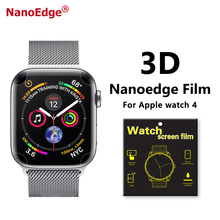 Apple Watch için 3D Anti Scratch TPU Filmi Için Apple <span class=keywords><strong>Izle</strong></span> 4 40mm 44mm Ekran Koruyucu
