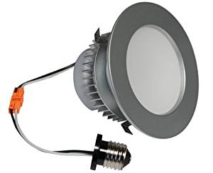 American Lighting EP4-E26-27-BS E-Pro 4-Inch Downlight, 2700K Color Temp, E26 Base, 7.5W, 525 Lm, Brushed Steel Trim by American Lighting