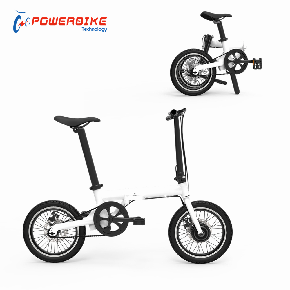 Factory direct 250w 16 inch lightweight portable mini electrical foldable alloy frame bike