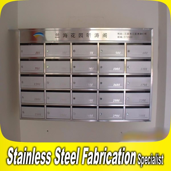 Apartment Building Mailboxes custom made free standing stainless steel apartment building