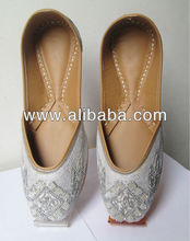 Indian bridal shoes,Indian wedding shoes,Women's khussa flat shoes, Indian khussa shoes,