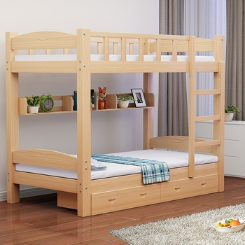 high quality Metal Kids solid wood bunk bed