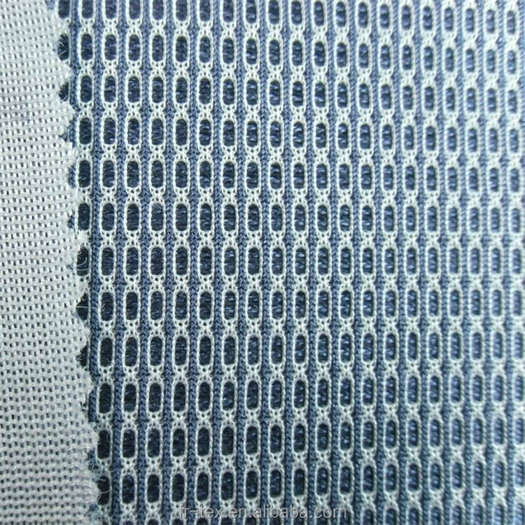 70% polyester 30% nylon spacer mesh fabric and sandwich air mesh for shose 3mm thickness