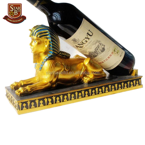 Resin crafts European fashion antique egypt pharaoh sagittarius wine rack