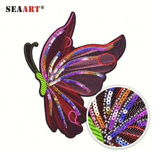 Bulk Sequin Butterfly Machine Beaded Iron On Patch Hand Embroidery Designs For Girl Dress