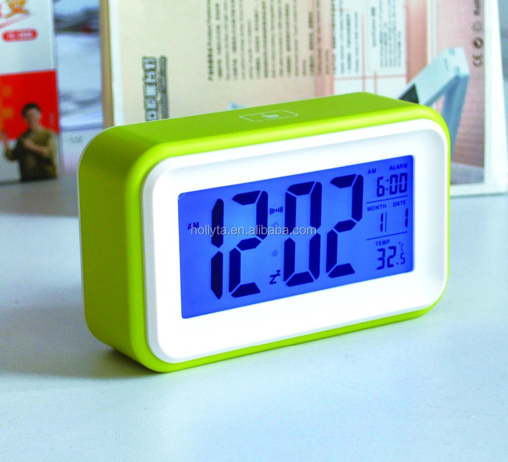Digital table touch screen alarm clock for elderly
