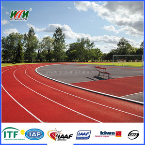 All weather UV resistance spray coat running track system