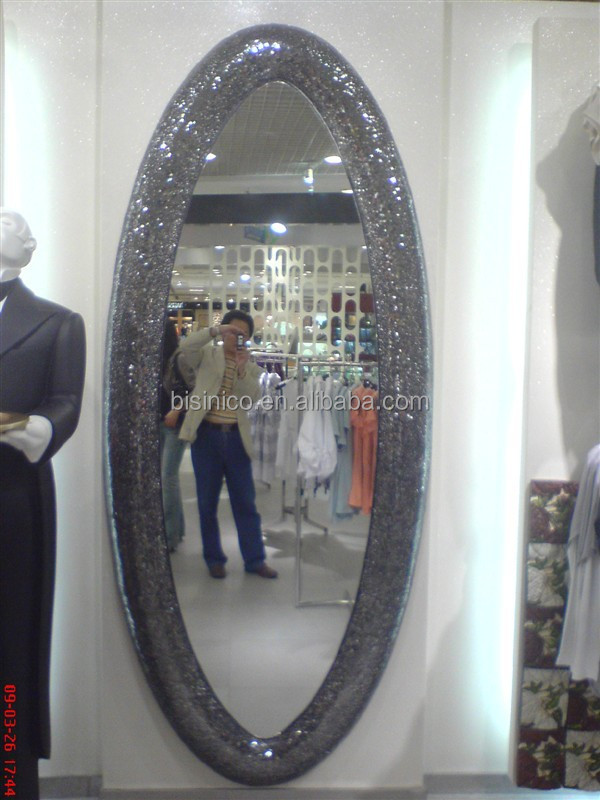 Classical Design Oval Decorative Dressing Mirror European