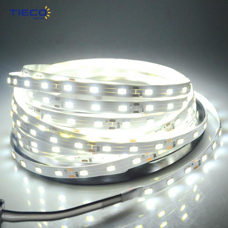 Best quality 98 5500 Kelvin Cool White Adjustable CE Flexible LED Light Strip 14.4W Per Meter