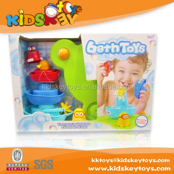 Hot sale wholesale China baby whale bath toys,happy children bath toy baby bath game toy set