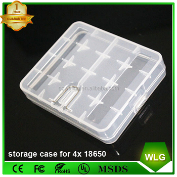 Cheap Price Portable Plastic Waterproof 18650 Battery Holder Storage Case  Carry Box For 4x18650 Li