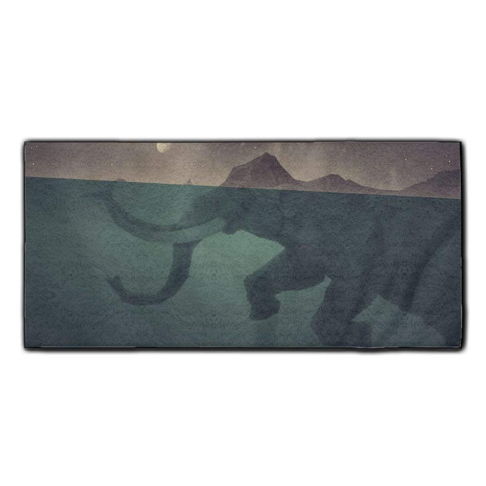 Baerg Microfiber Super Absorbent Face Towel Ocean Stone Elephant Hair Care Towel Gym And Spa Towel