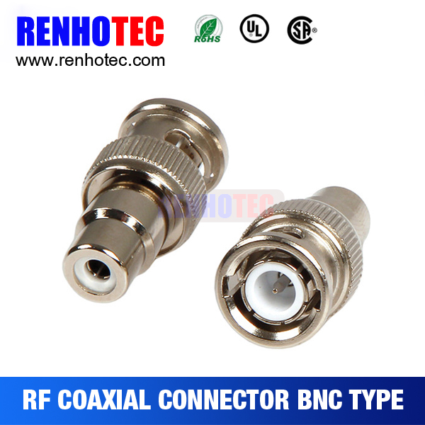 two pieces rca to bnc connector adapters