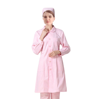 cheap quality long sleeves doctor lab coats nurse tunic