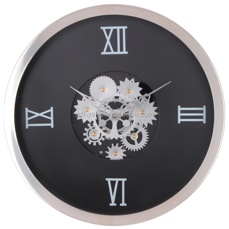14 inch factory price antique high-end engine wall clock with round shape