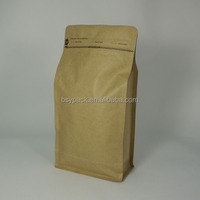 Wholesale stand up pouch with zipper/kraft paper zip lock bag/zipper for doypack with window