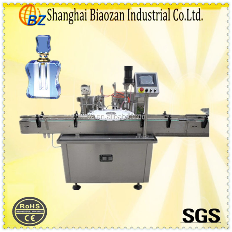 Cosmetics cap closing machine for liquid filling