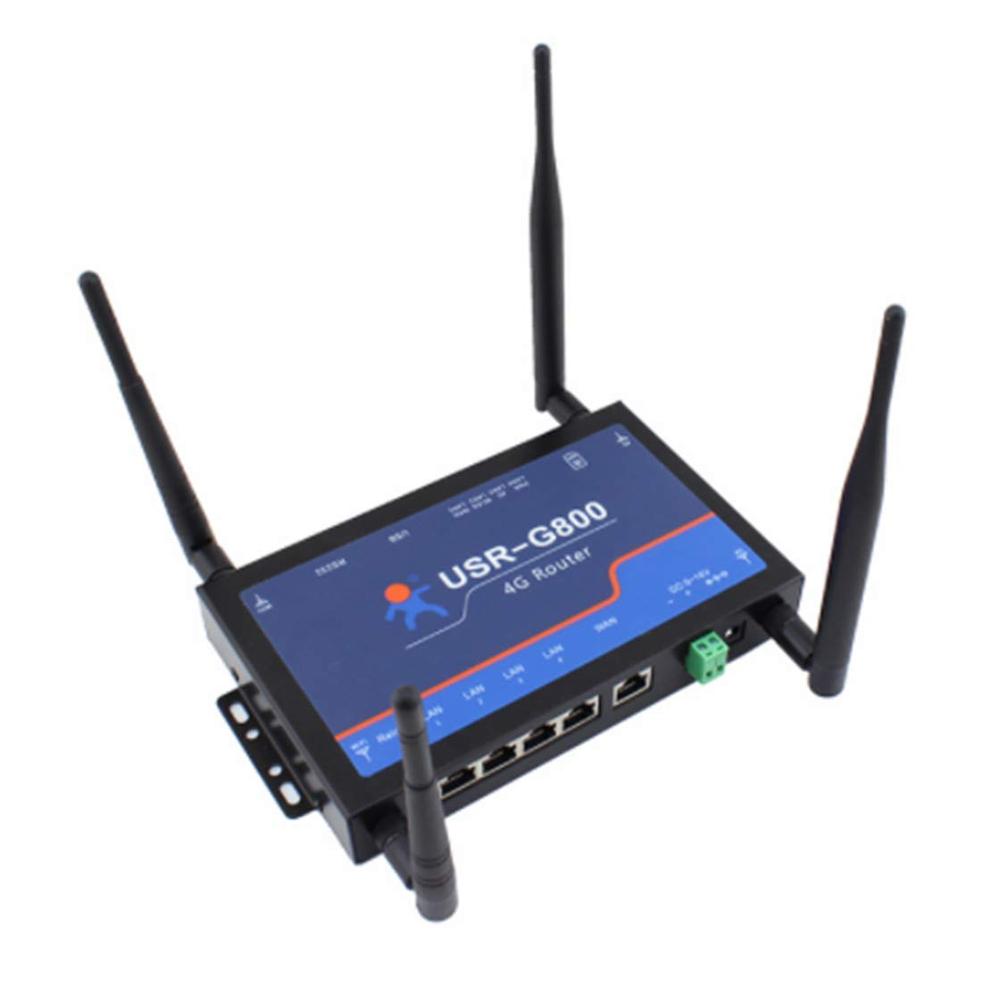 MingChuan Industrial 4G Wireless LTE Router RS232 to 4G Network Data Transpartent Transimissionwith SIM Card Slot