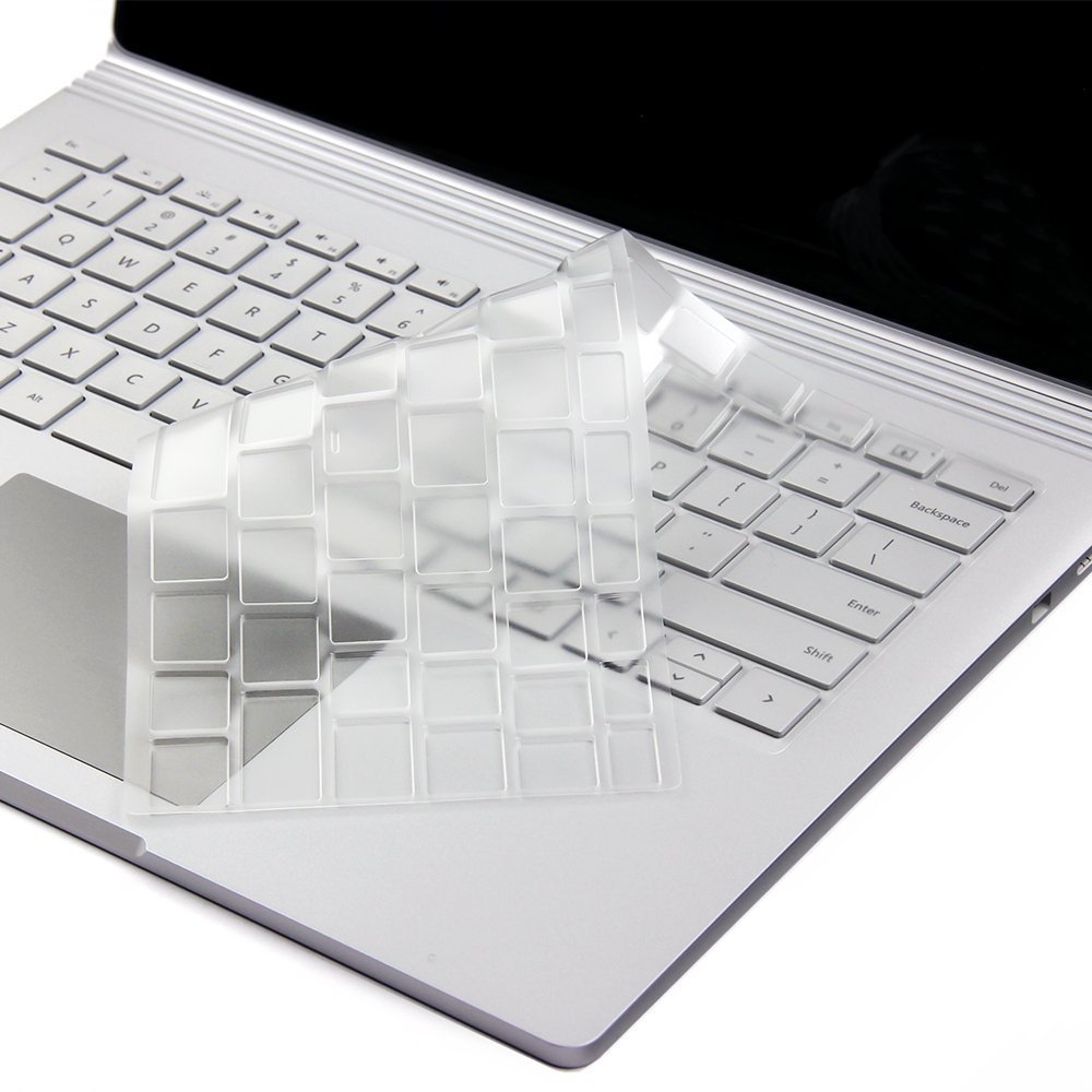 Leze Ultra Thin Keyboard Protector Skin Cover for Microsoft Surface Laptop TPU /& Surface Book /& Surface Book 2,Soft-Touch /& Precision Fit Keyboard 2017 Released