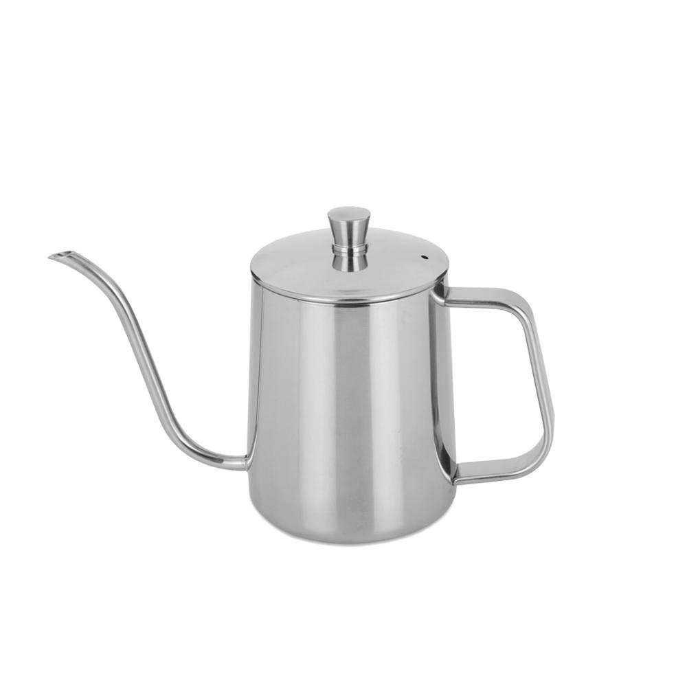 New Design 350ml 600ml Customized Pour Over Coffee Drip Pot barista tool Stainless Steel v60 pour over kettle pot Coffee Kettle