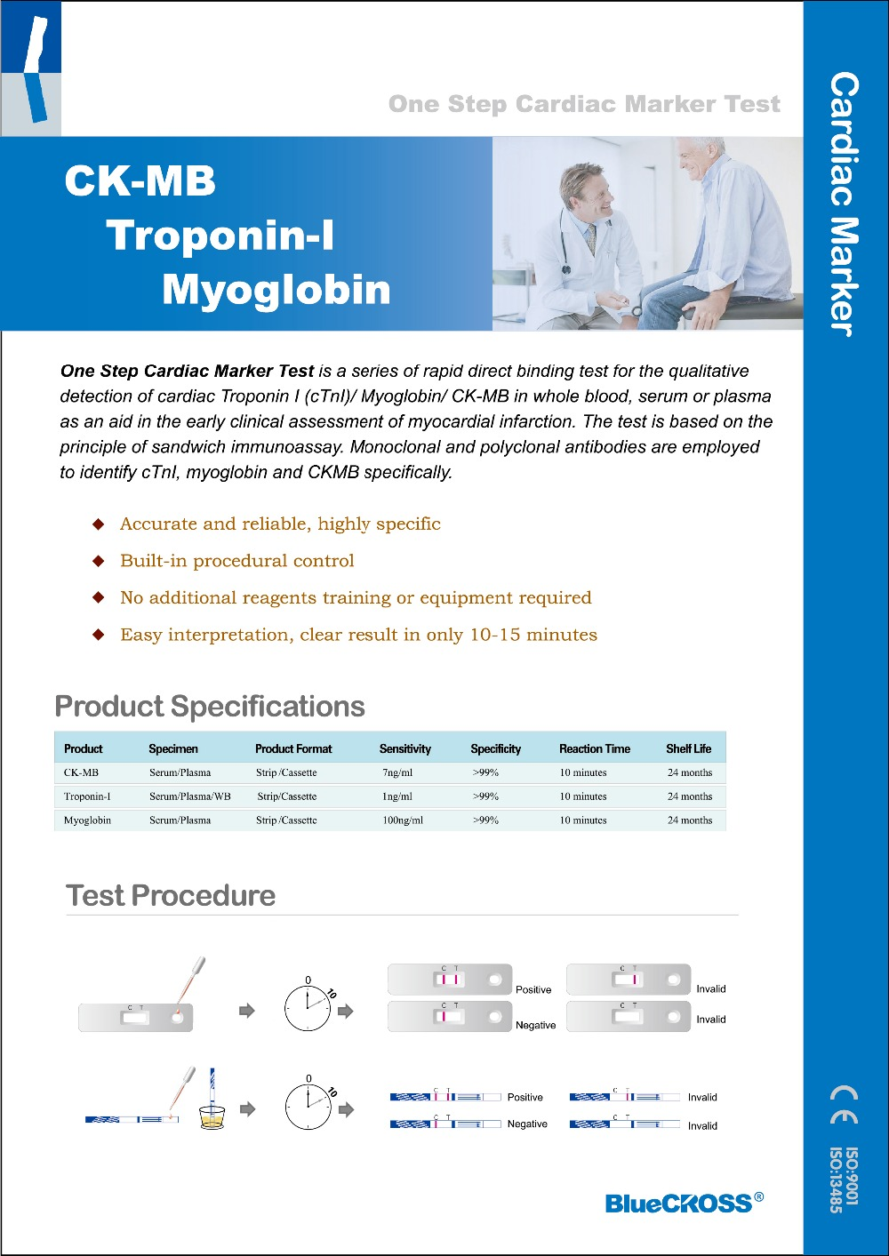 Cardiac Troponin-I (ctni) Rapid Test Kits Device With CE
