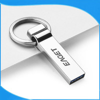 Customized Metal With Keyring Clip USB Flash Drive
