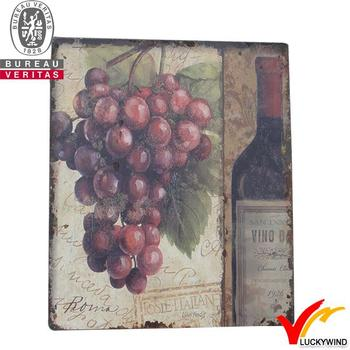 Handcrafted Grapes Wine Theme Vintage Wooden Wall Decor France Style ...