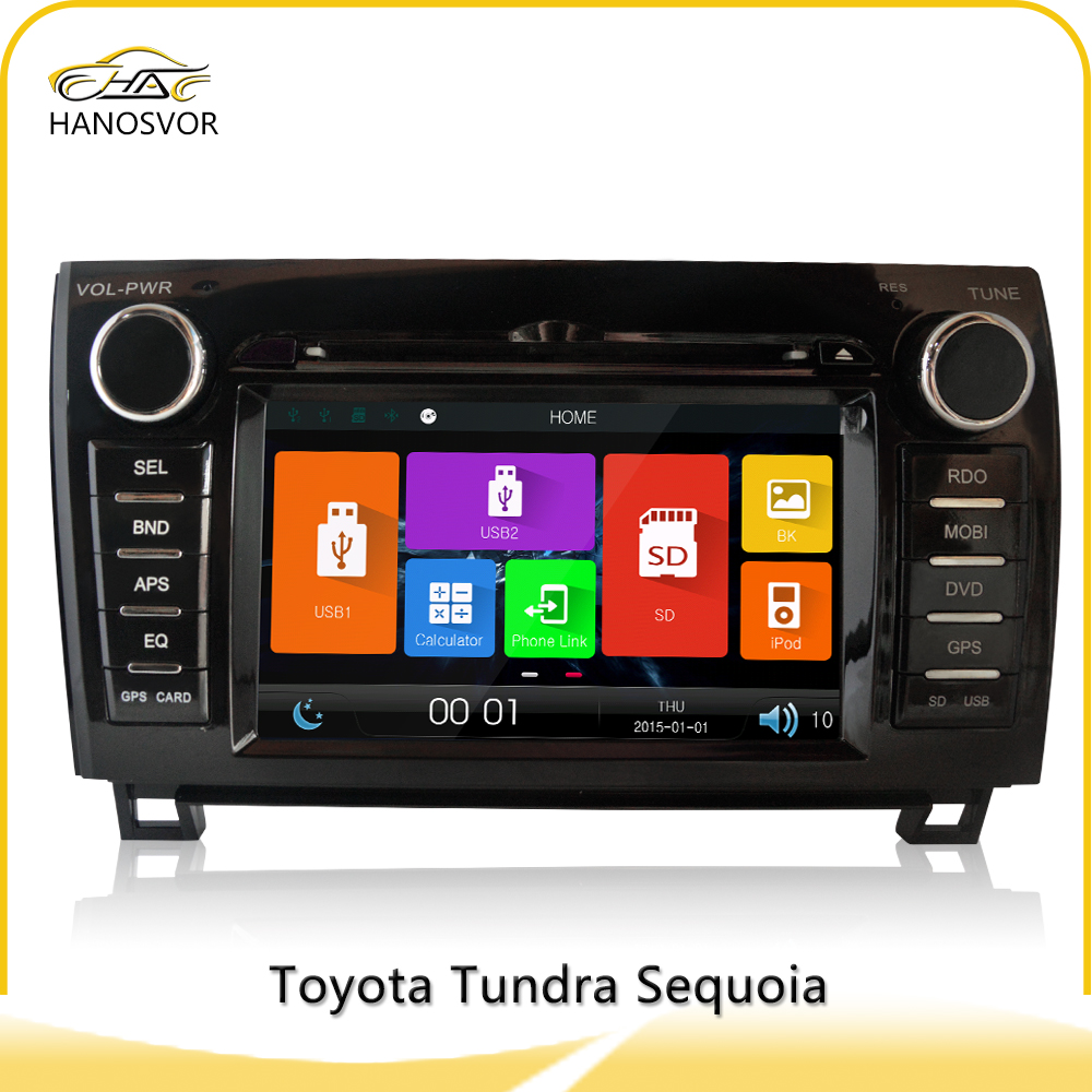 "Hanosvor 7"" touch screen Car audio stereo system DVD player GPS Navigation for Toyota Tundra/Sequoia"