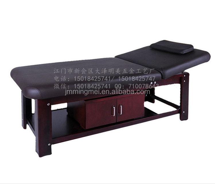 Mingmei thai massage bed wood/wooden facial bed