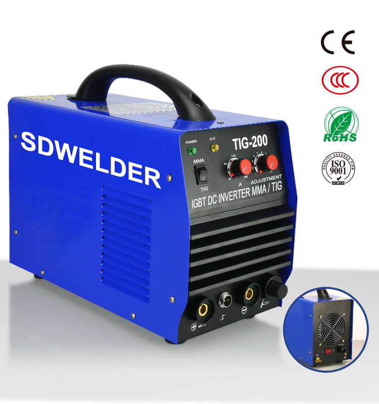 manual IGBT WS 200 inverter DC tig welding machine