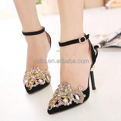 b88f99a9a76 2015 Stylisih New Design Pointed Toe High Heel Pumps Low Price Sexy Ankle  Strap Hing Heel Sandals Py3793 - Buy 2015 Stylisih New Design Pointed Toe  ...