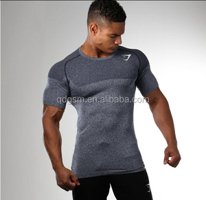 Men Gym Compression T Shirts seamless sports Wear