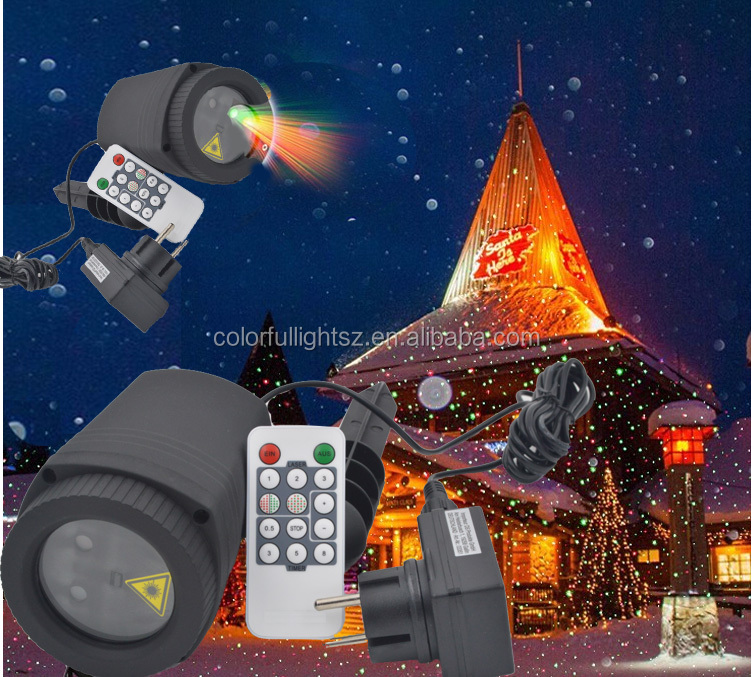 moving laser rain 1*3W Green/Red 4-in-1 Dynamic laser for outdoor light /cristmas light/ tree light