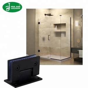 matte black glass shower door pivot hinge