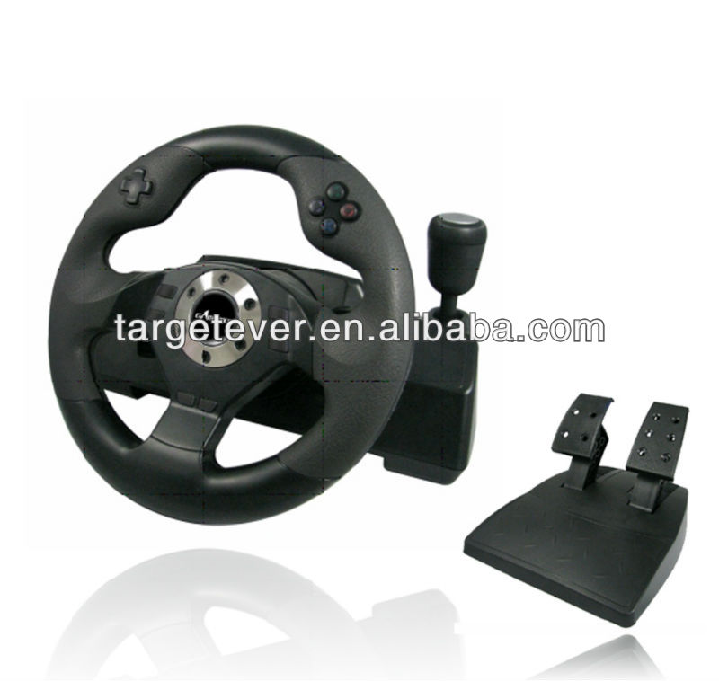 hot sale happy wheels game USB/PS/PS2 Wheel With Vibration