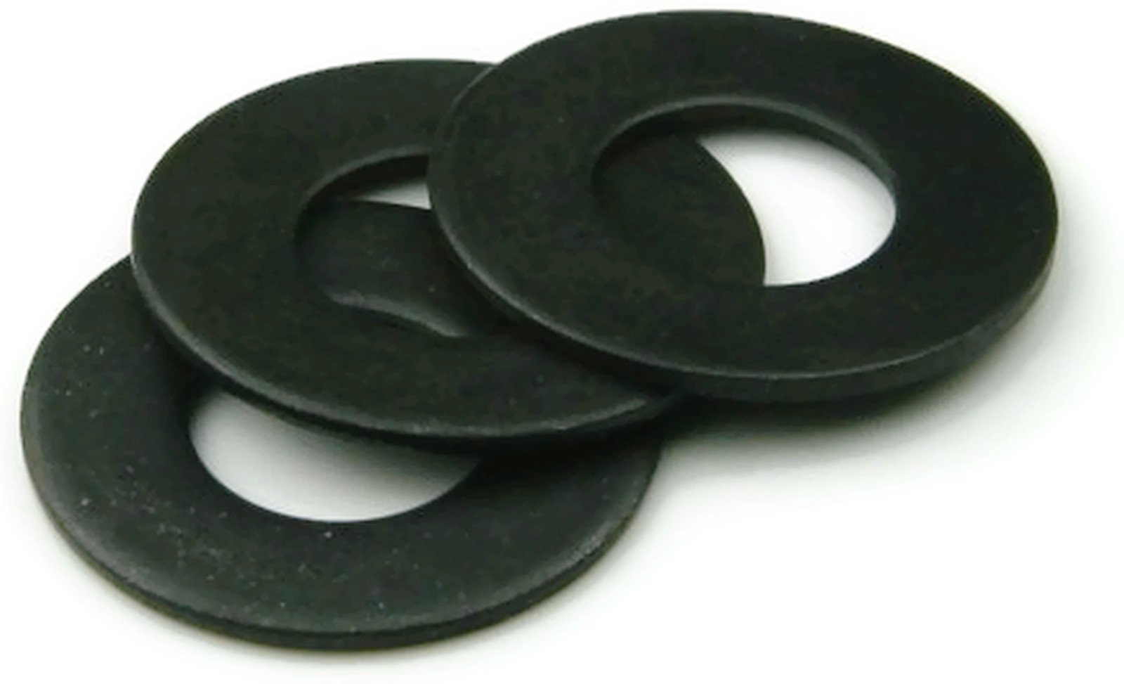18-8 Stainless Steel Black Oxide Flat Washers - 3/8 INCH (ID 0.406 x OD 7/8 x Thick 0.050) - Qty 100