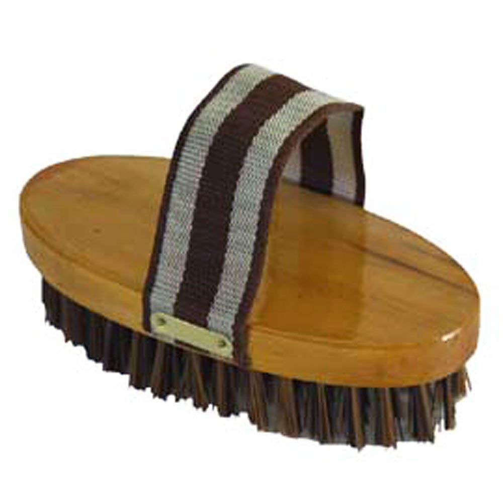 "HILASON 7-1/2"" Western Horse Care Wooden Body Polypropylene BRISTLES Brush"