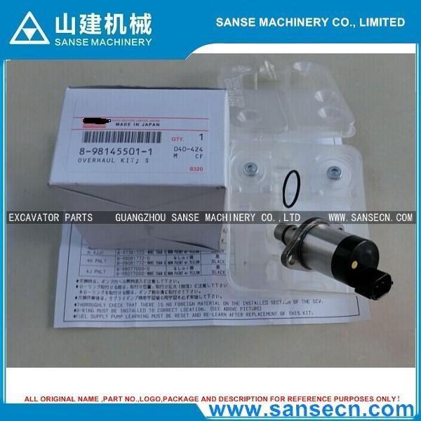 Zx140w-3 8-98145501-1 4jj1 High-pressure Pump Solenoid Valve