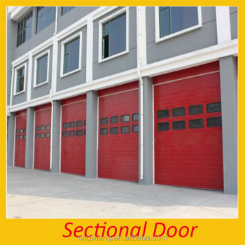 Customized automatic sectional folding glass 8x7 garage for Sectional glass garage door