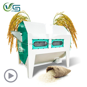 Rotary drum paddy rice cleaning machine/bean cleaner/corn wheat grain seed dust remover machine