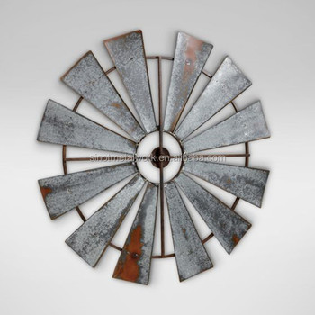 Farmhouse Metal Windmill Wall Decor 39 Inch Round Gift Rustic Windmill  Blades   Buy Metal Garden Windmill,Metal Garden Decorative Windmill,Garden  ...