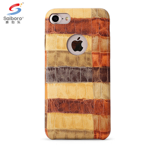 Crocodile pattern pu leather back case for iphone 5 6 6 plus 7 7 plus
